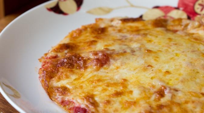 Pizza de Quinoa -SEM GLÚTEN